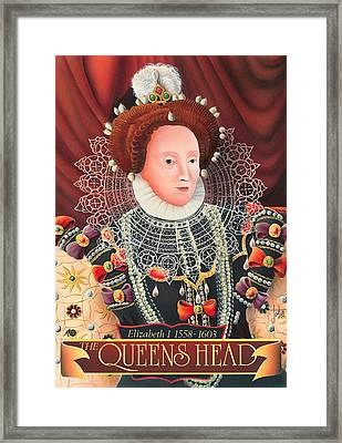 The Queens Head Framed Print by Peter Green