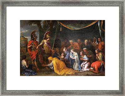 The Queens Of Persia At The Feet Of Alexander Framed Print by Charles Le Brun