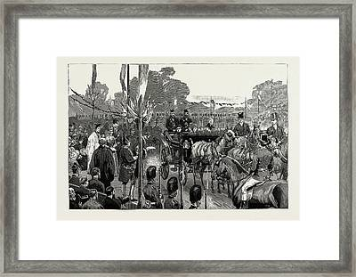 The Queens Visit To North Wales, Uk Framed Print
