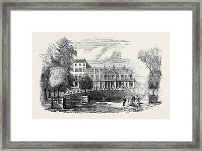 The Queens Visit To Paris, Her Majestys Apartments Framed Print