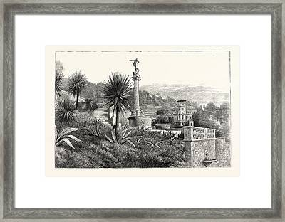 The Queens Visit To The South Of France Monument Framed Print