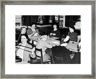 The Queen's War Working Party Framed Print