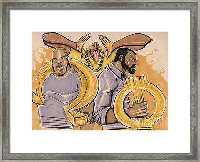 The Ques Framed Print by Tu-Kwon Thomas