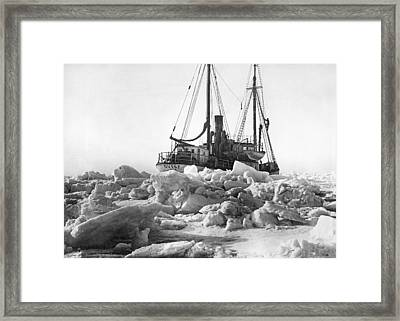 The Quest Stuck In Ice Framed Print