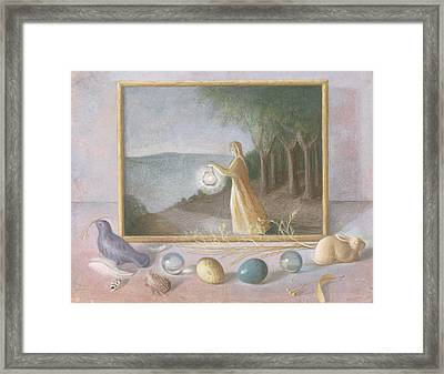 The Quest Wc On Paper Framed Print