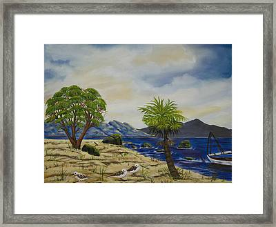 The Quiet Harbor Framed Print