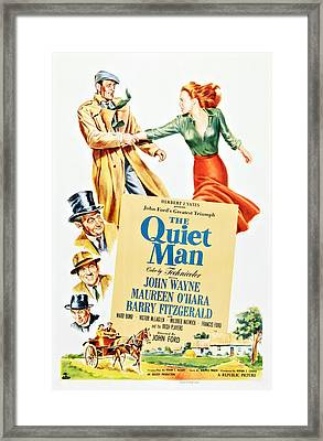 The Quiet Man, Top From Left John Framed Print by Everett