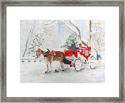 The Quiet Ride Framed Print by Beth Saffer