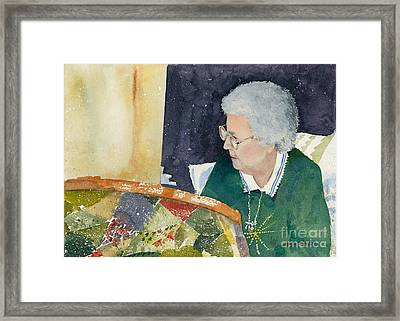 The Quilter Framed Print