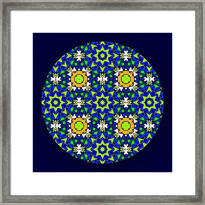 The Quilters Mandala Framed Print