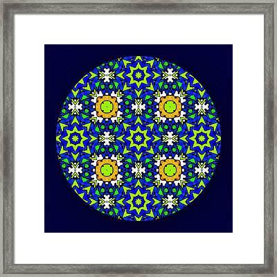 The Quilters Mandala Framed Print by Georgiana Romanovna