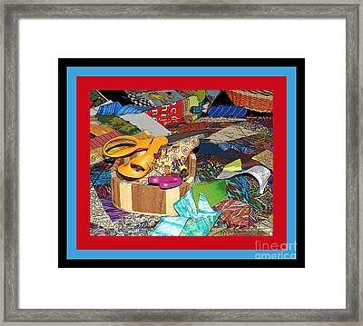 The Quilters Table Framed Print by Margie Avellino