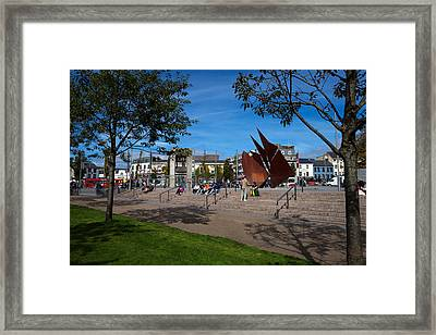The Quincentennial Sails Sculpture Framed Print by Panoramic Images