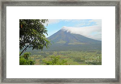 The Quite Mayon Framed Print by Manuel Cadag
