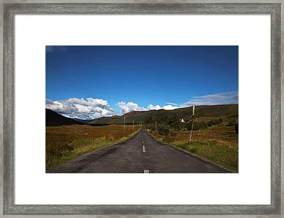 The R300 Road At Finny, County Mayo Framed Print