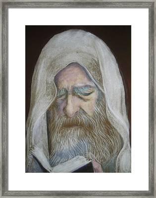 The Rabbi Framed Print by Maxwell Mandell