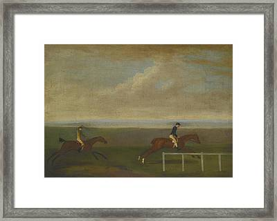 The Race Between Lord Framed Print