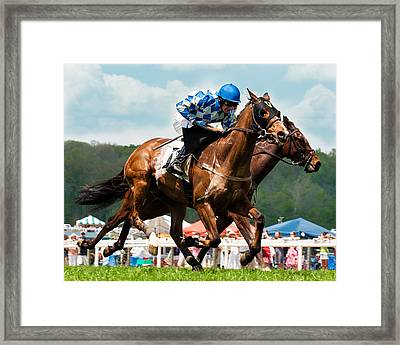 The Race Is On Framed Print by Robert L Jackson
