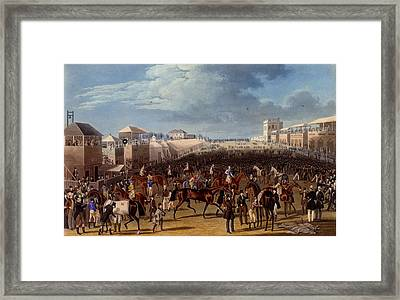 The Race Over, Print Made By Charles Framed Print