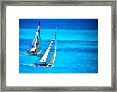 The Race Framed Print by Pamela Blizzard