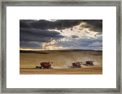The Race To Finish Framed Print