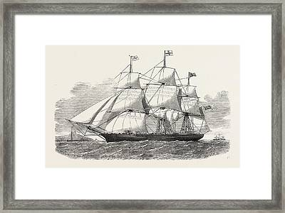 The Racer Clipper Packet-ship, Of New York Framed Print by American School