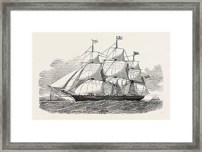 The Racer Clipper Packet-ship, Of New York Framed Print