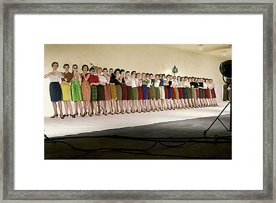 The Radio City Rockettes Framed Print by John Rawlings
