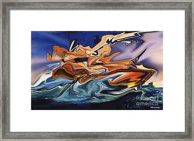 The Raft Of The Jellyfish Or Le Radeau De La Meduse Framed Print by Christian Simonian
