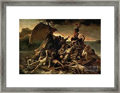 The Raft Of The Medusa Framed Print by Celestial Images