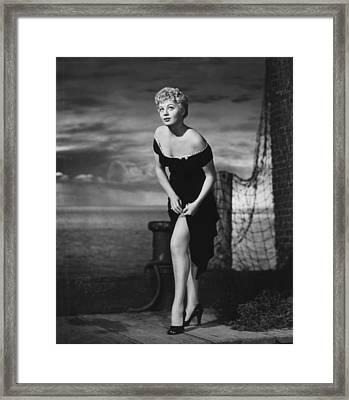 The Raging Tide, Shelley Winters, 1951 Framed Print
