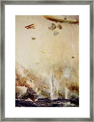 The Raid On Cuxhaven Framed Print by Cyrus Cuneo