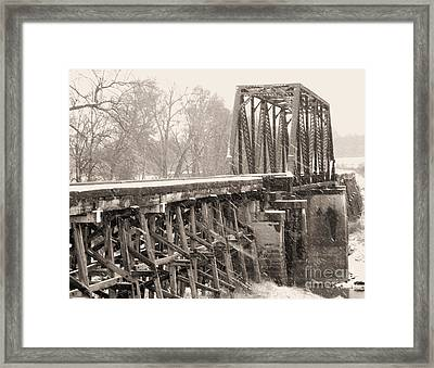The Rail Bridge Framed Print by R McLellan
