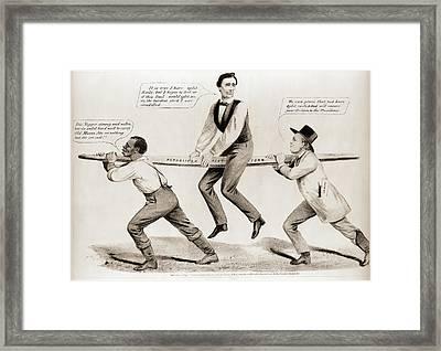 The Rail Candidate Currier & Ives. Maurer Framed Print