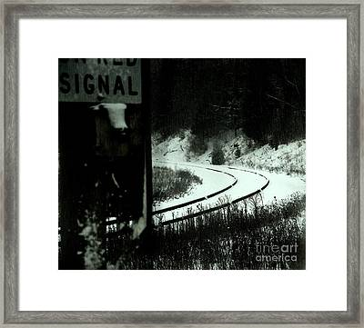 The Rail To Anywhere Framed Print