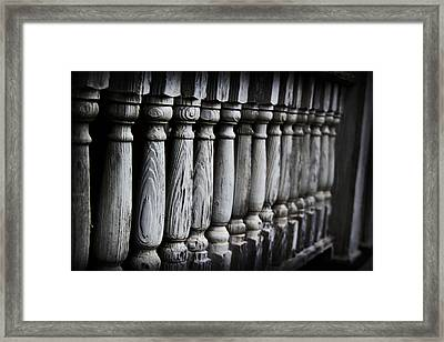 The Railing Framed Print
