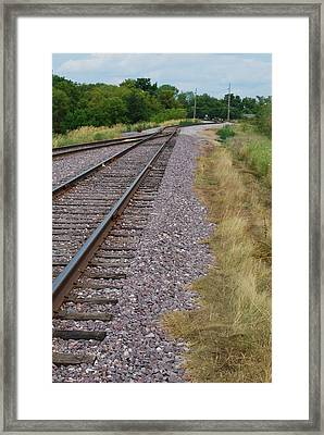 Framed Print featuring the photograph The Rails by Ramona Whiteaker
