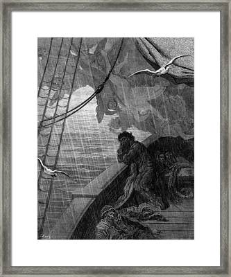 The Rain Begins To Fall Framed Print by Gustave Dore
