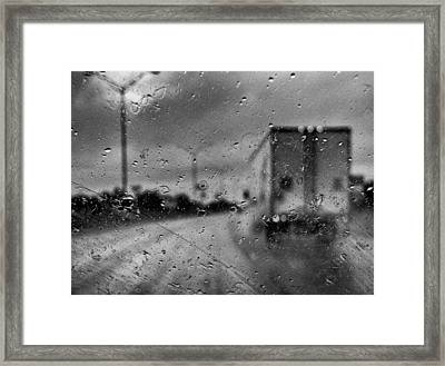 The Rain Makes Mysteries Framed Print