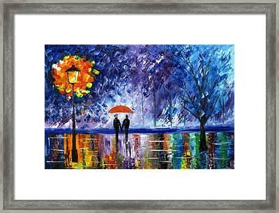 The Rain Framed Print by Mariana Stauffer