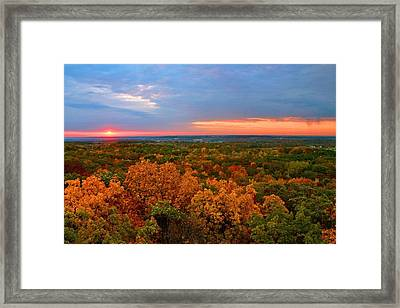 The Rain Moves In Framed Print by Julie Franco