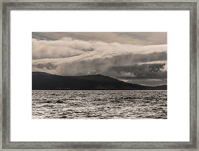 Framed Print featuring the photograph The Rain Will Begin Soon by Sergey Simanovsky