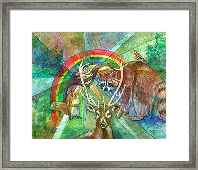 The Rainbow Cocoon Framed Print by Elizabeth D'Angelo