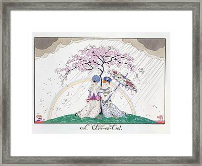 The Rainbow Framed Print by Georges Barbier