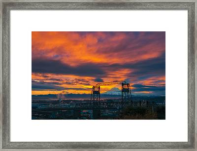 The Rainier Shadow Framed Print
