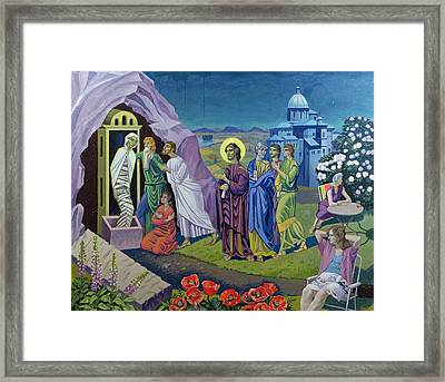 The Raising Of Lazarus, 1987 Framed Print by Osmund Caine