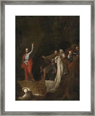 The Raising Of Lazarus Framed Print