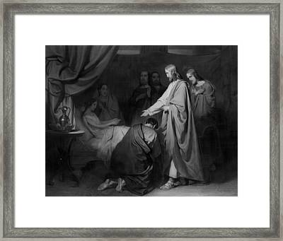 The Raising Of The Daughter Of Jairus, Willem Hendrik Framed Print by Litz Collection