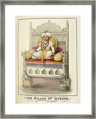 The Rajah Of Mysore Framed Print