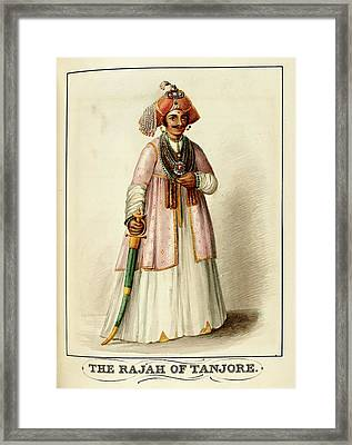 The Rajah Of Tanjore Framed Print
